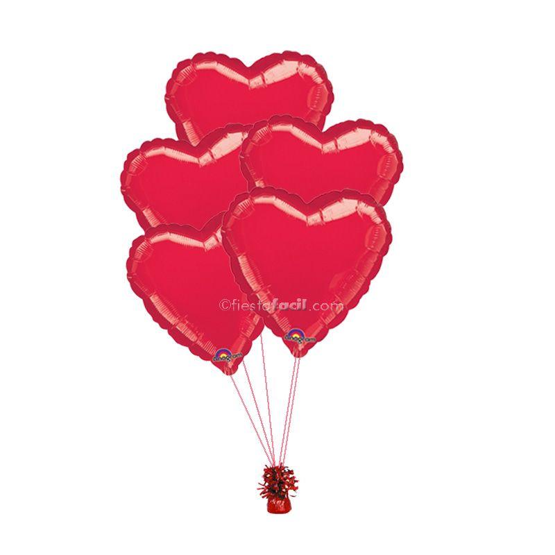 .. 25 Pk Rojo Y Blanco Forma De Corazón Globos Decoraciones Globos De San Valentín especial