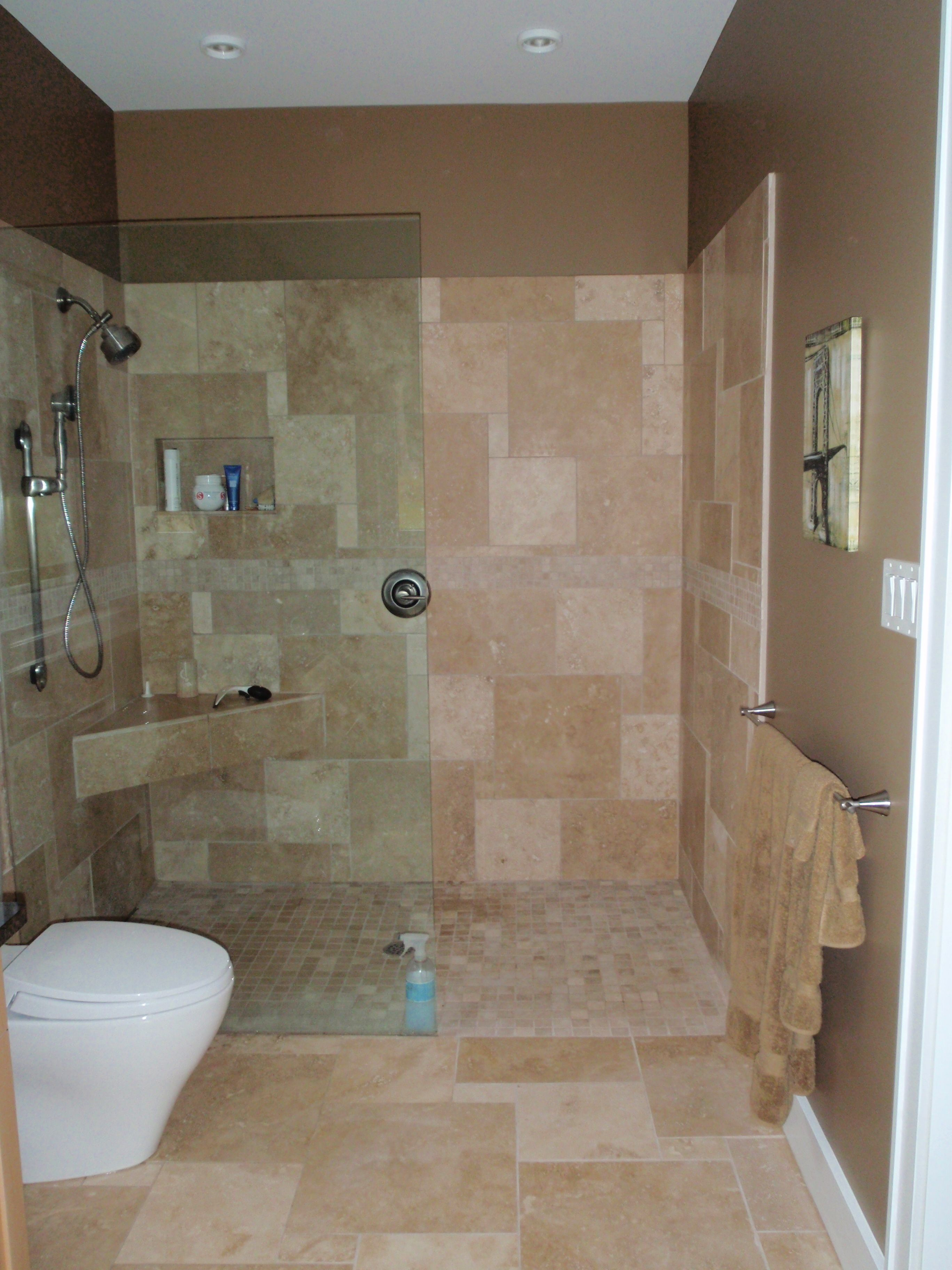 Open shower - no door. | Bathroom ideas & tips | Pinterest ...