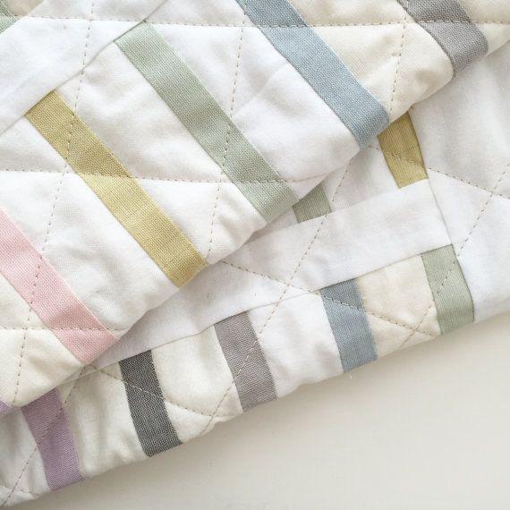 Modern Baby Quilt Pastel Quilt Small Quilt Minimal Quilt Scandinavian Quilt Wedding Gift Wall Qui Modern Baby Quilt Baby Quilts Scandinavian Quilts