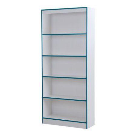 Amazing South Shore Smart Basics 5 Shelf Bookcase, Multiple Finishes, Multicolor