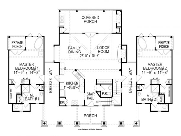 Cottage Dual Master Suites Logcabinhouseplans Logcabinhomes Smallhouseplans Housefloorplans Buildho Master Suite Floor Plan Cabin House Plans House Plans