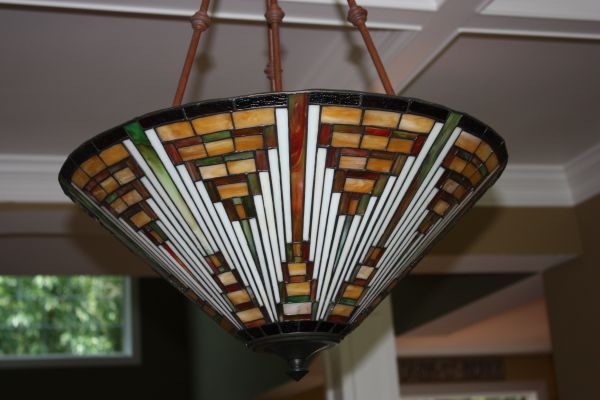 Just Found This On Craigslist Hope It Is Still Available Mission Style Stained Glasslight Fixture Prairie Style Mission Style Ceiling Lights