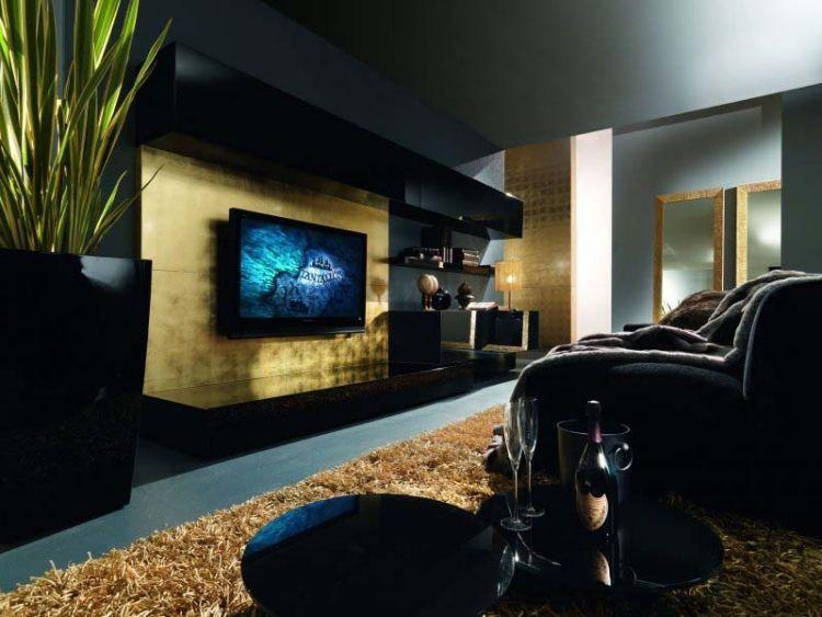 Decoration Salon Moderne Noir Et Rouge - valoblogi.com
