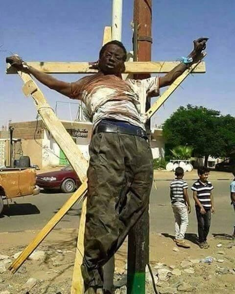 A Christian reportedly crucified in Lybia