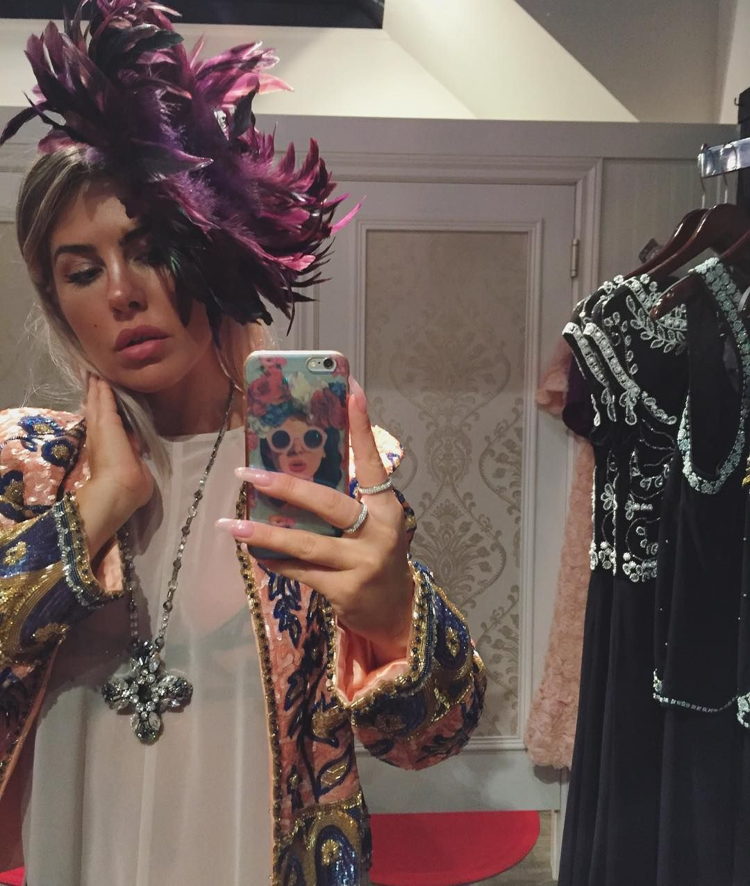 I feel like a bag of poop so I'm shopping. I defs need this jacket and since it's my birthday week month kinda I must get and I think this head piece may be awesome for my outfit!! http://ift.tt/1k8MHGM