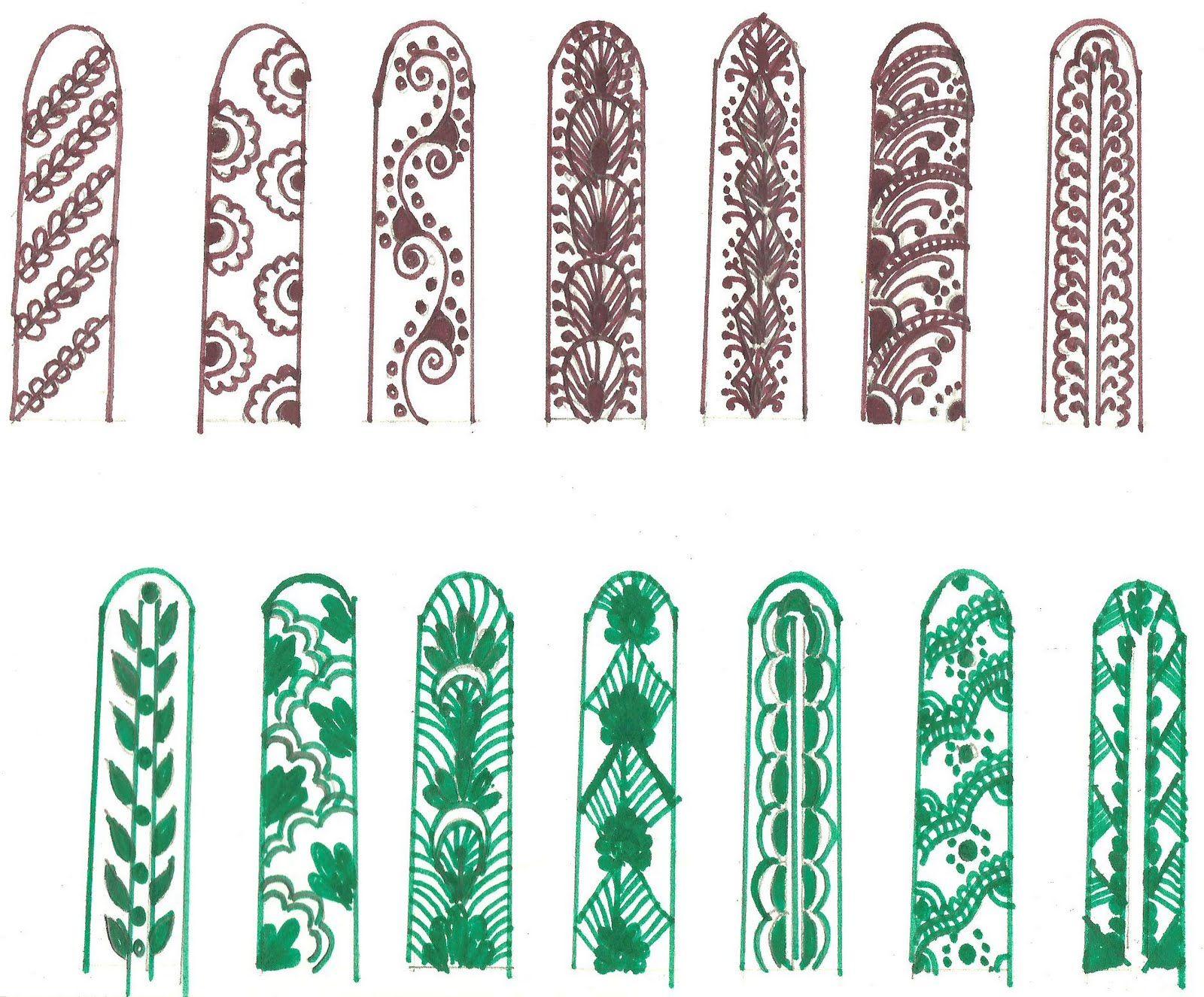 easy mehndi designs for fingers for beginners www