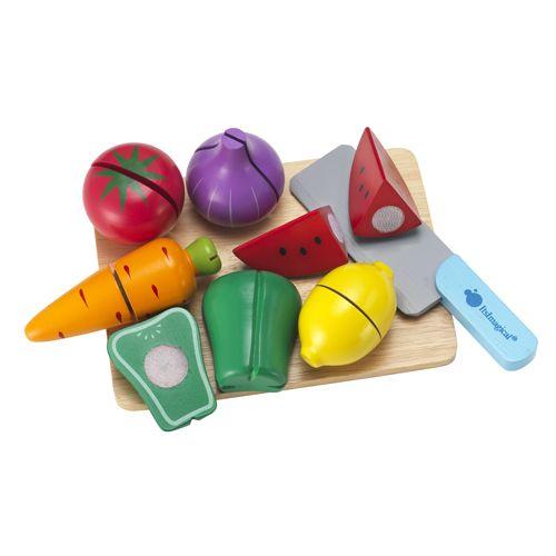 Set peças madeira - fruta