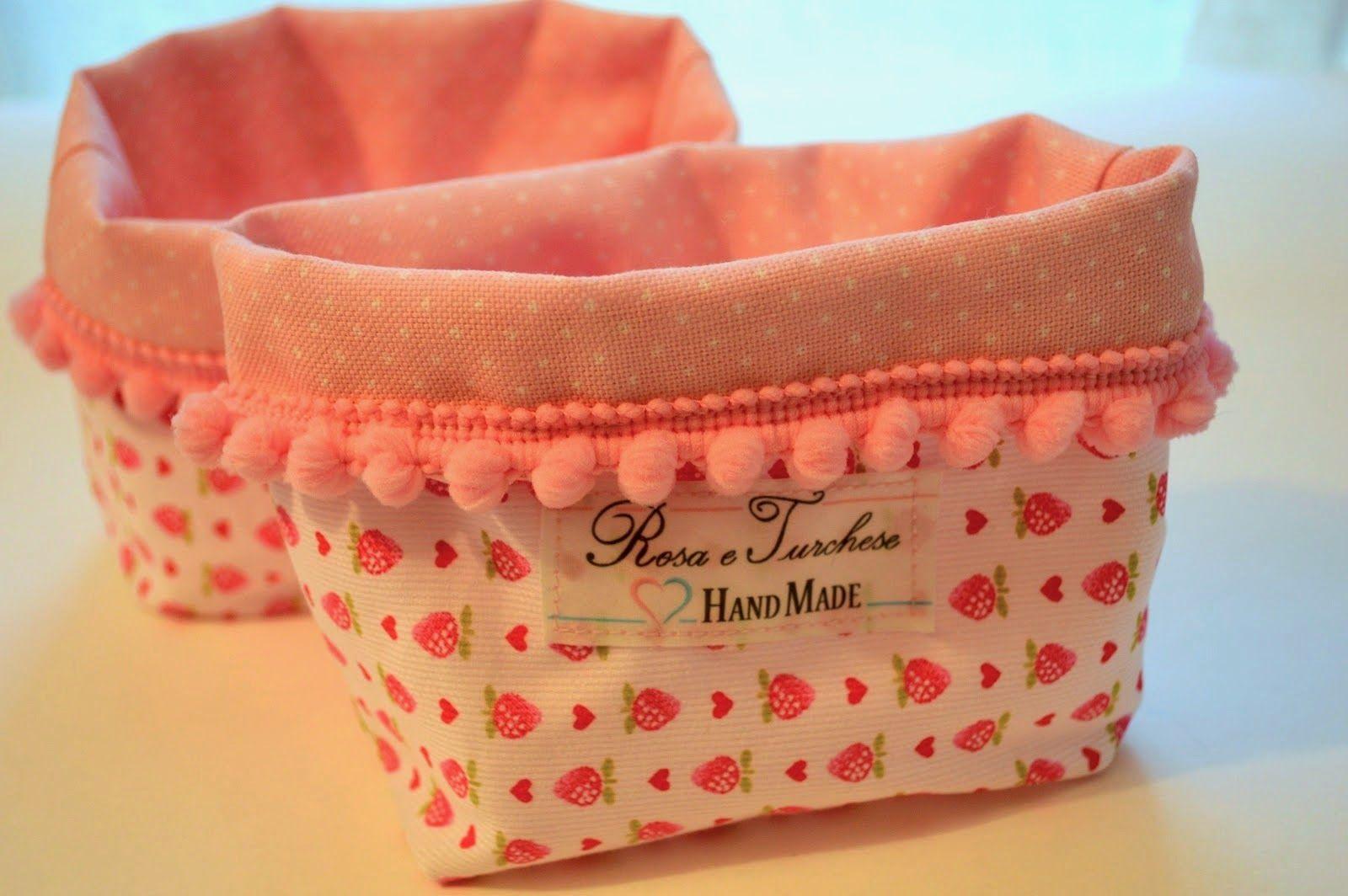 Idee Cucito Per Il Bagno : Idee regali fai da te: cestino di stoffa porta oggetti fai da te