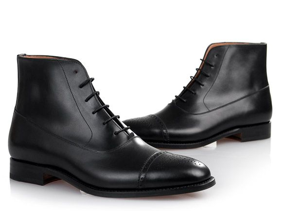 SHOEPASSION.com – Goodyear-welted Oxford Boot in black