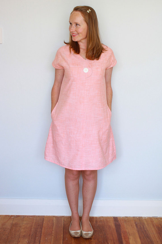 Afternoon Blouse and Shift Dress Women\'s PDF Sewing Pattern Size 6 ...