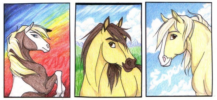 Spirit, Rain, Esperanza - Spirit: Stallion Of The Cimarron | Spirit ...