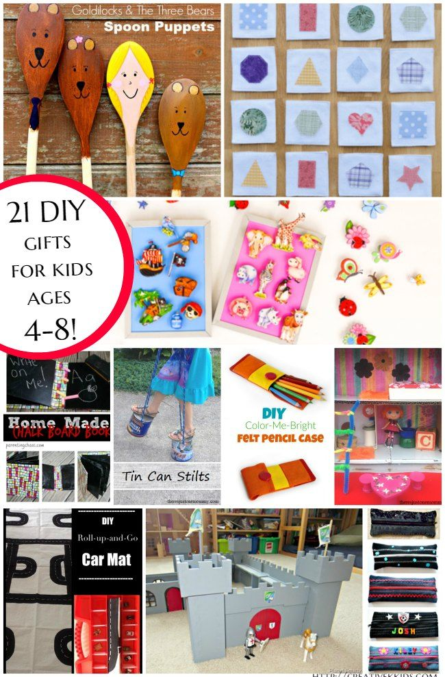 Here Are 21 Gifts You Can Make For A 4 8 Year Old Child Plus 7 More DIY 0 3 Children Perfect Christmas Or Birthday