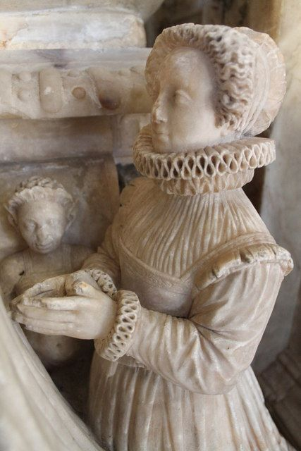 1580 - Anne Harrington, née Kelway as a weeper on her father Robert Kelway's Tomb, Exton church