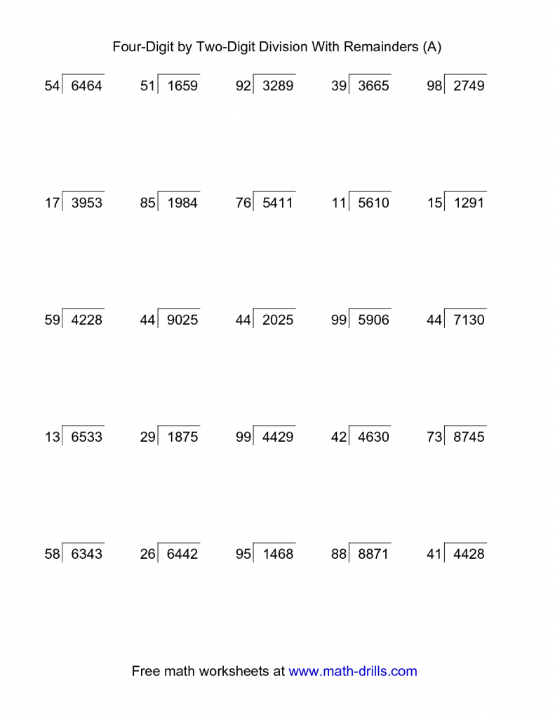 45++ 5th grade math worksheets long division with decimals Images