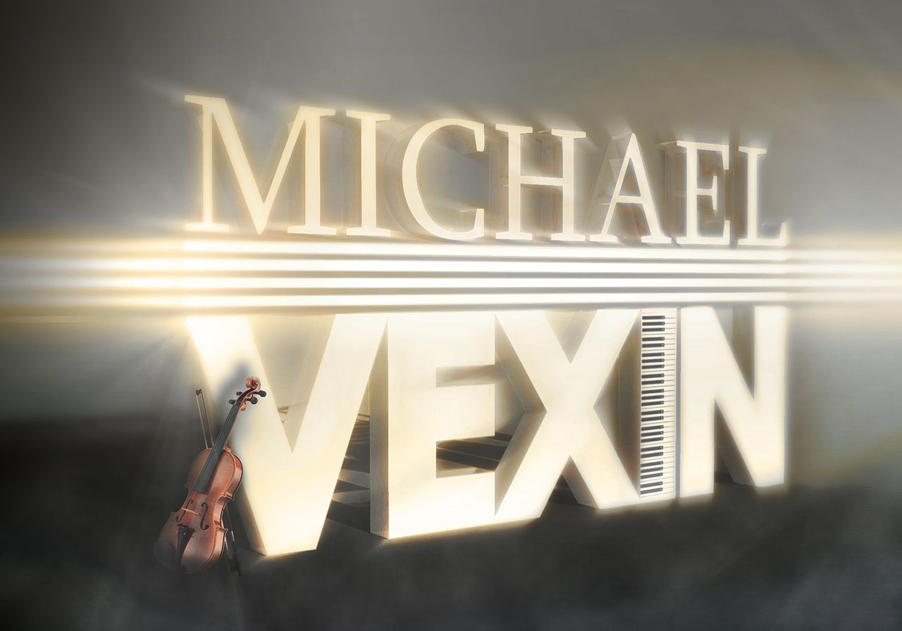 Functional logo study which started with this initial design for  mvexmusic / Michael Vexin. #amanandhisdog #design #graphicsdesign #corporate #business #corporateidentity #branding