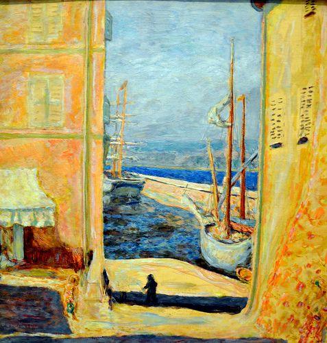 Pierre bonnard view of the old port saint tropez 1911 for Pierre bonnard la fenetre