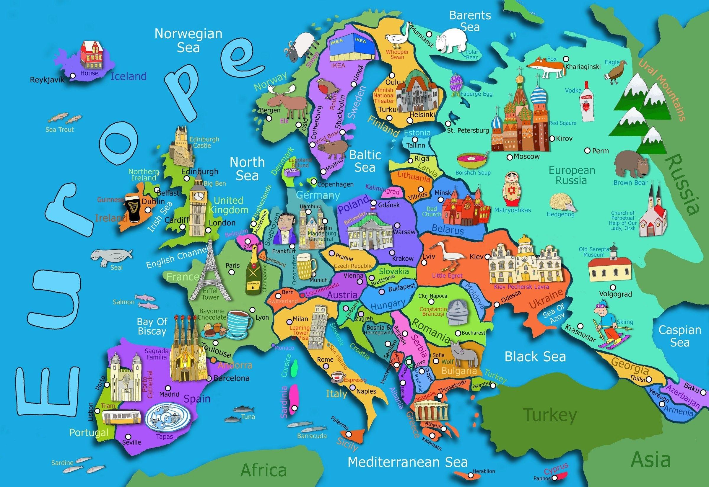 Mapa De Turismo Da Europa Europa Turismo Mapa Africa