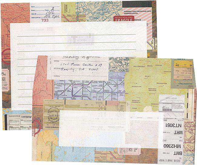 envelope ル・ジャルダンシリーズ オシャレなマップ柄のレターセットです。