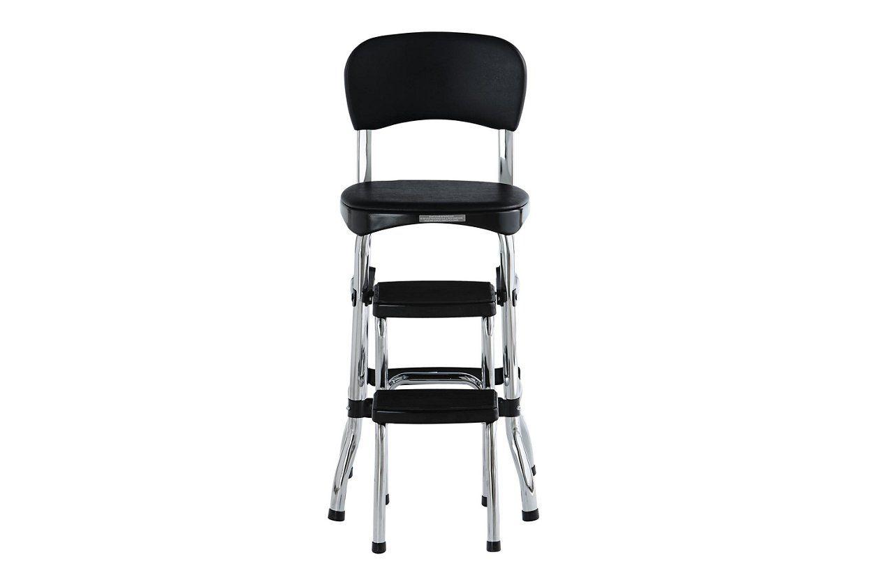 Cosco retro step stool with sliding steps ashley