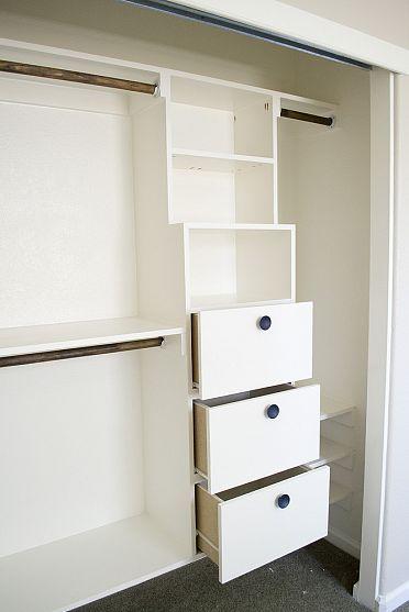 Diy Closet Kit For Under 50 Drawers In Shelves Built