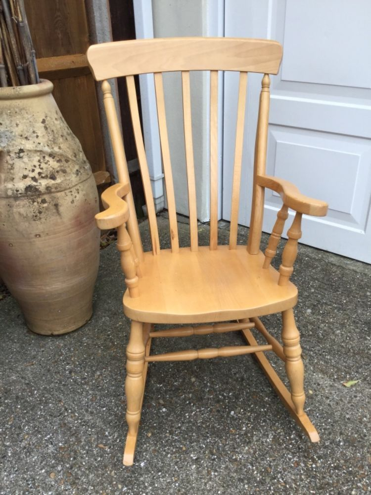 Wooden Rocking Chair, Great Condition, Made From Good