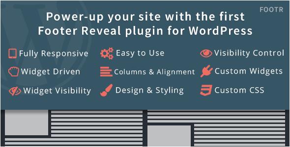 Footr : Footer Reveal Plugin for WordPress | Plugins, WordPress ...