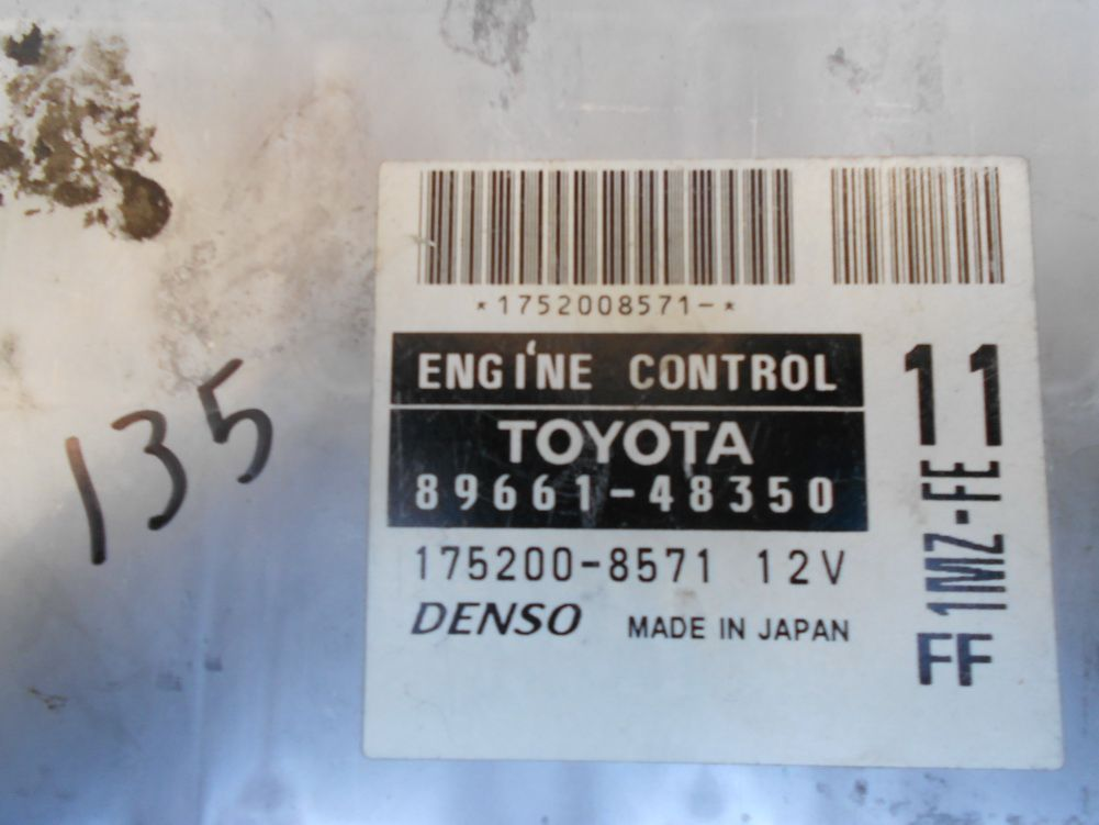 02 Toyota Highlander 4cyl 2wd Ecu Ecm Computer Number 89661 48350