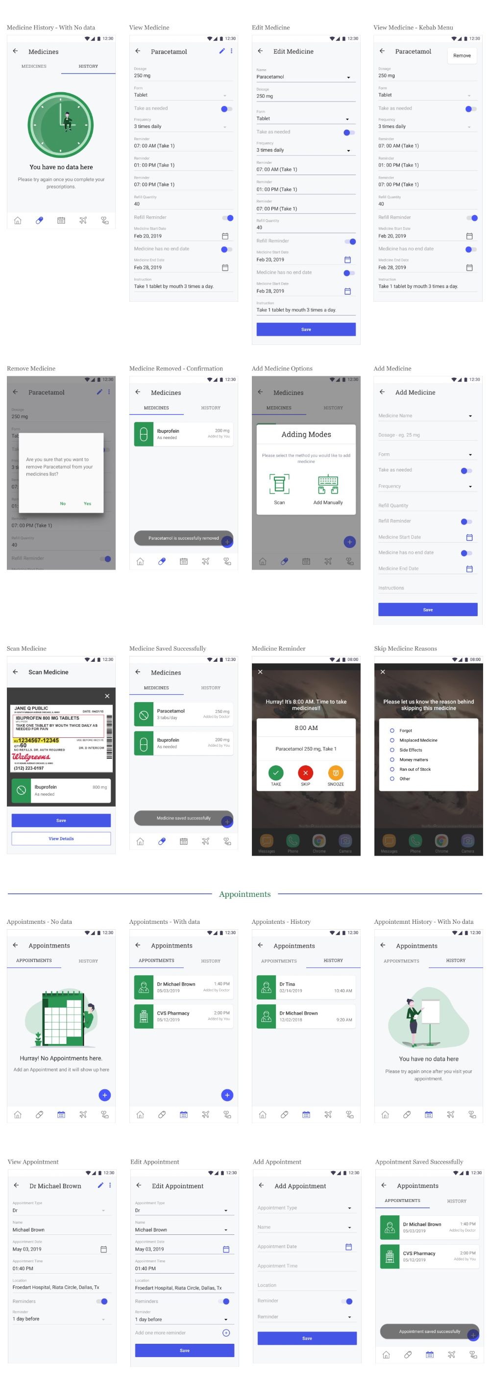 Designing a health reminder application — a UX case study