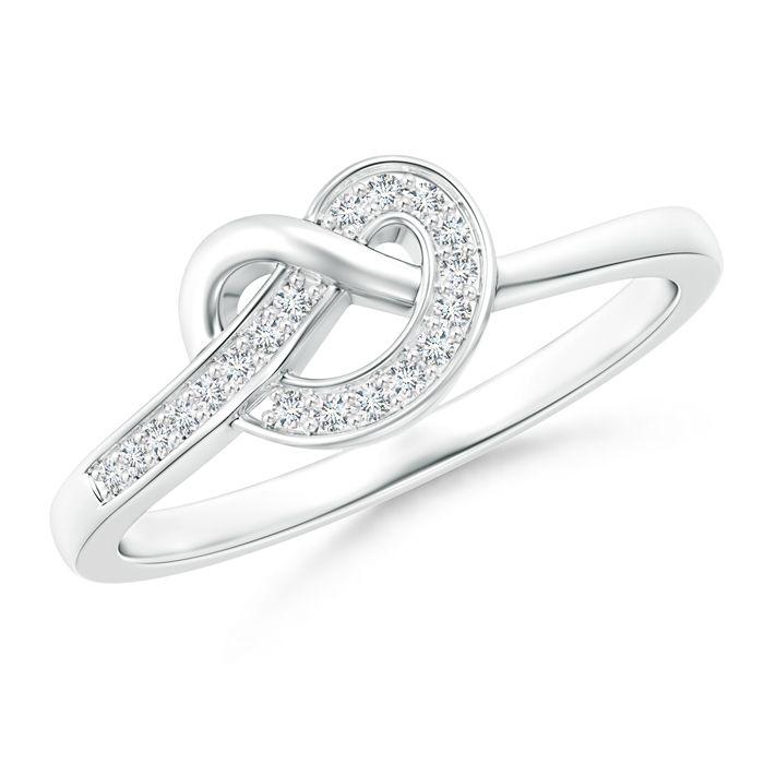 Angara Prong Setting Round Diamond Infinity Knot Ring zGz6Wgu3zs