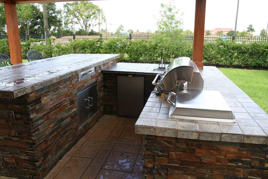 Wet Pools Inc Outdoor Kitchen Katy Texas Backyard Makeover Outdoor Kitchen Pool Builders