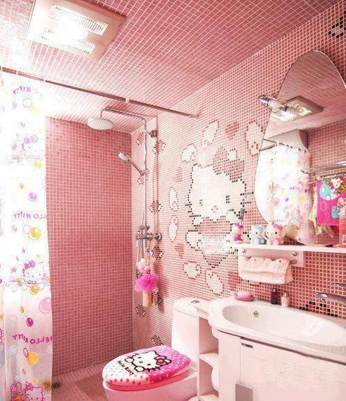Bathroom Hello Kitty Dollhouse Decoration Games Above Will Guide You In  Selecting The Ideas Of Applying The Hello Kitty Design For The Home  Interior.