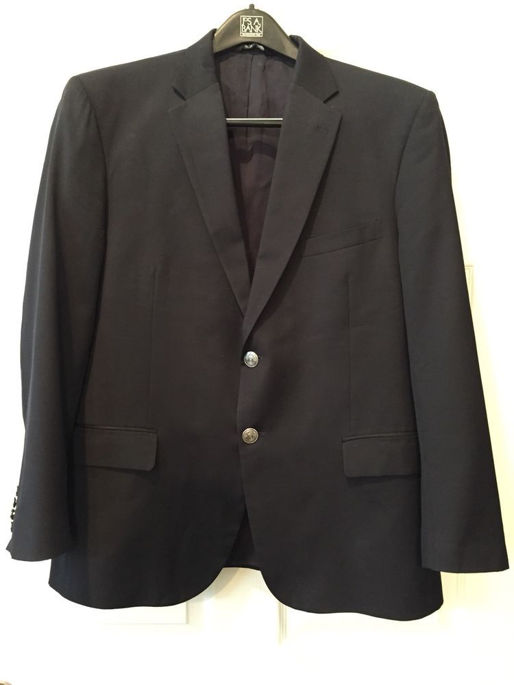 Mens Suit Jacket Tailored Fit Dark Navy Blue #fashion # ...