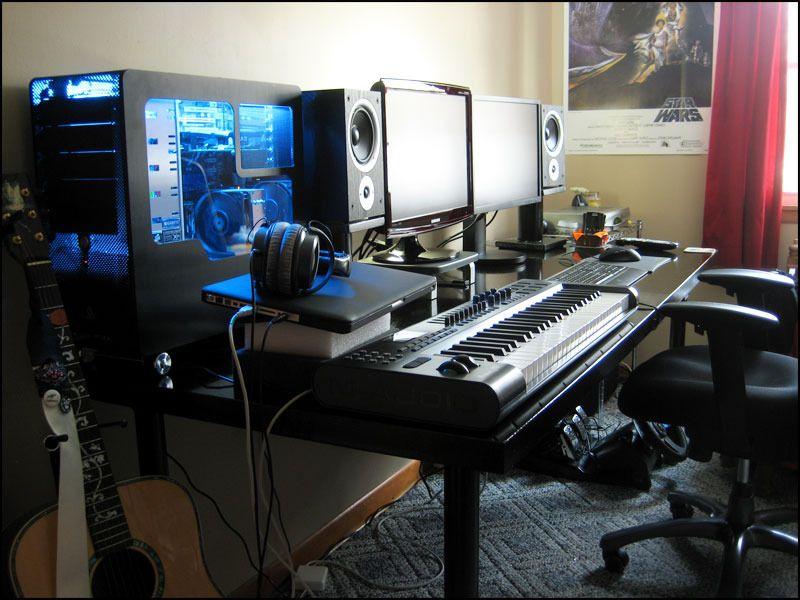 Home Office Dual Desk Setup: Image Result For Good Desk Setup Dual Monitor