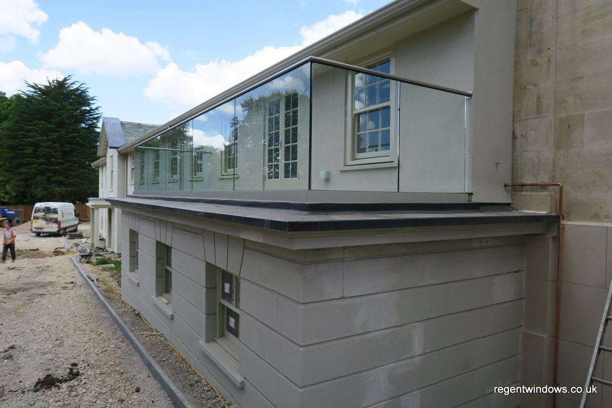 15mm thick toughened glass balustrades fitted using a