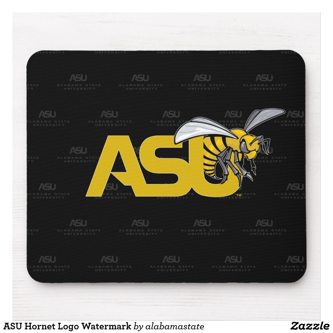 Asu Hornet Logo Watermark Mouse Pad Zazzle Com Hornet Logos