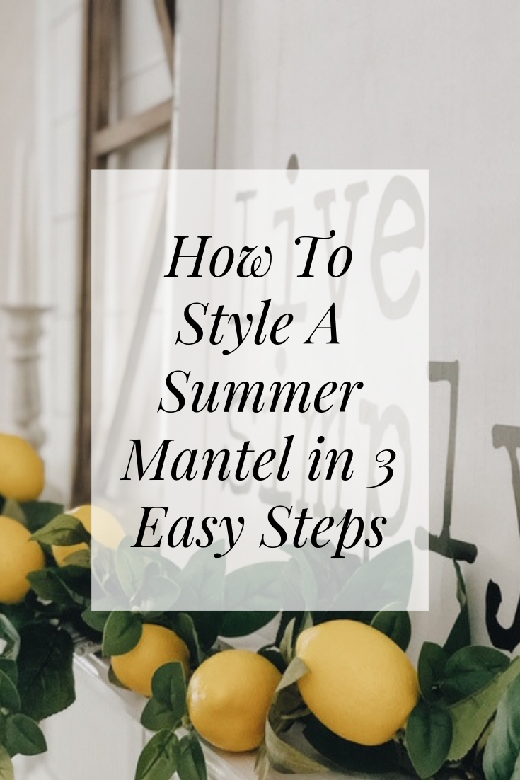 How To Style A Summer Mantel In 3 Easy Steps images