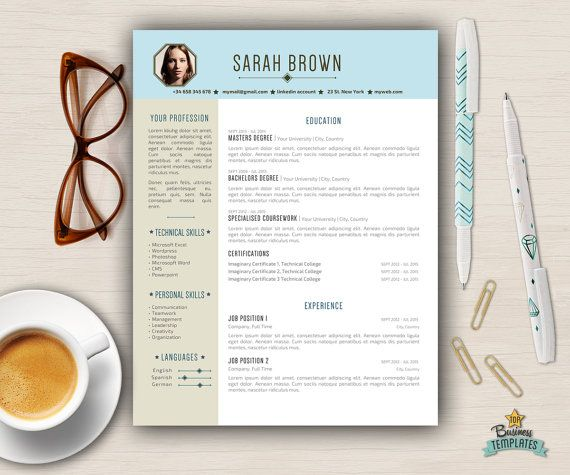 Creative Resume Templates Free Download Creative Resume With Photo  Modern Resume Template Word  Two