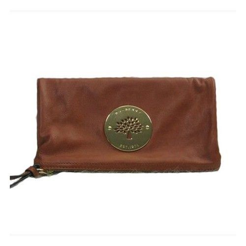 77255e38223 Cozy Mulberry Daria Clutch Soft Spongy Leather Brown   Mulberry ...
