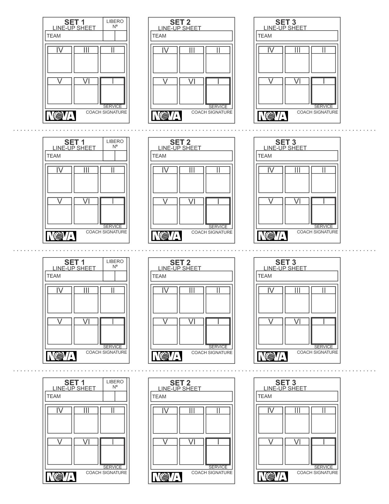 Rotation Cards From Volleyball Lineup Sheet Source Pinterest De Volleyball Lineup Sheet Don T F In 2020 Coaching Volleyball Volleyball Practice Plans