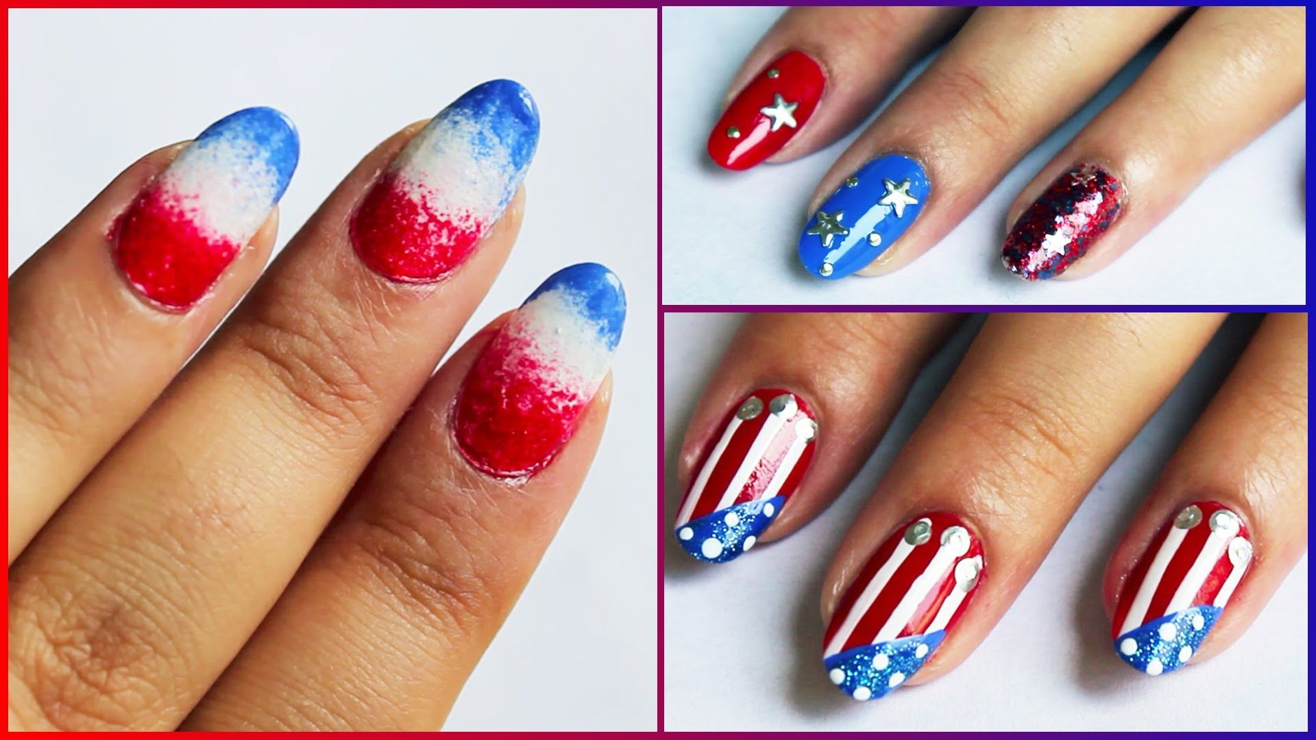 Easy Fourth Of July Nail Art | Best Nail Designs 2018