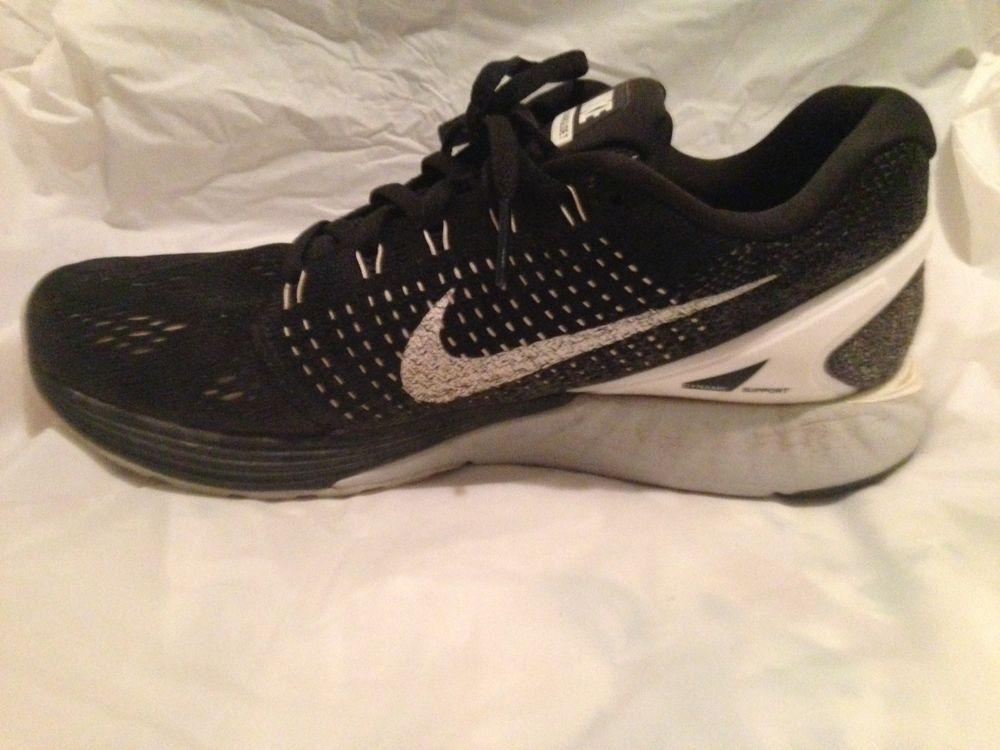 50a57bbf4c2e NIKE Women s Black Lunarglide 7 Running Training Shoe - Size  8 - 747356-001