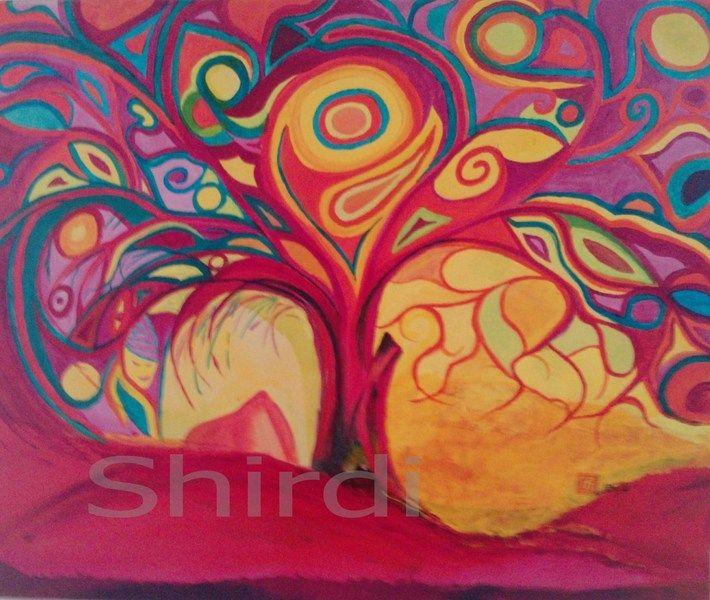 Mein persönlicher Lieblings-Baum -Leinwanddruck 50x60cm - ein Designerstück von Shirdi bei DaWanda