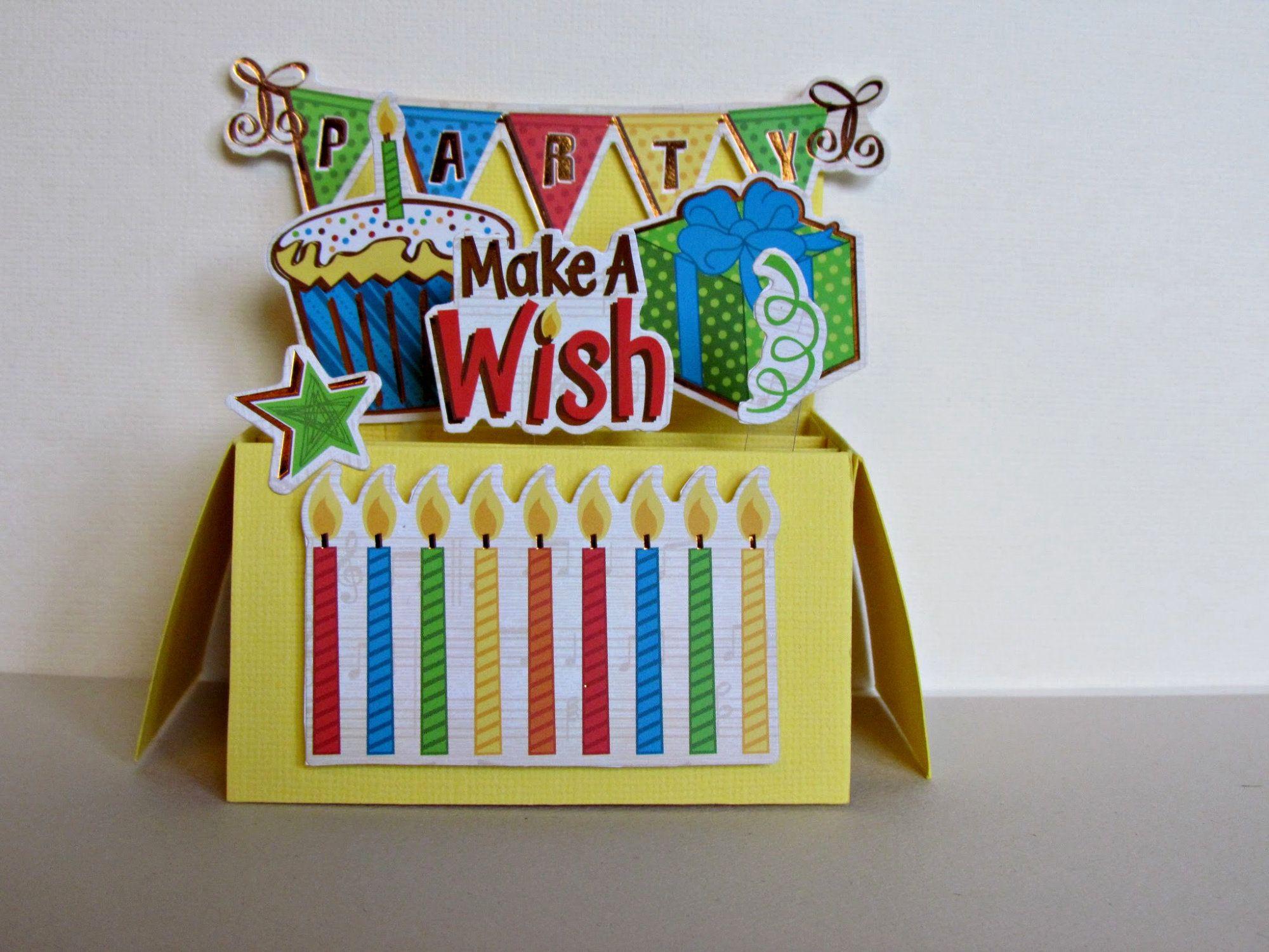 Pop Up Card Happy Birthday Birthday Cake Happy Birthday Etsy Happy Birthday Greeting Card Holiday Cards Handmade Birthday Greeting Cards