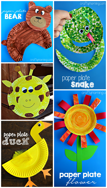 Creative Paper Plate Crafts For Kids To Make Plate Art