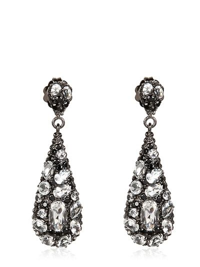 MCL MATTHEW CAMPBELL LAURENZA - TOPAZ AND SAPPHIRE DROP EARRINGS - LUISAVIAROMA - LUXURY SHOPPING WORLDWIDE SHIPPING - FLORENCE