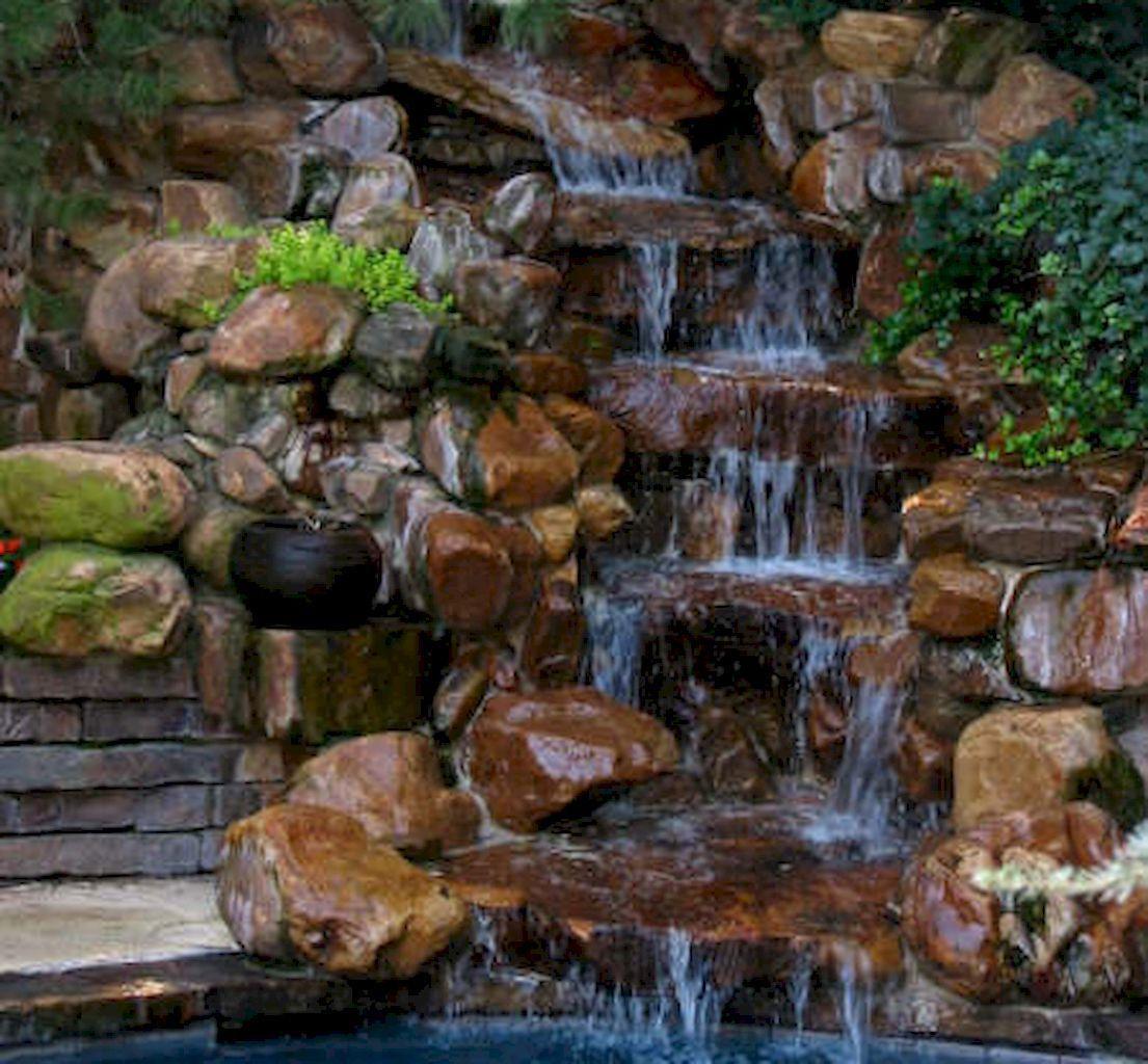 Beautiful backyard waterfall ideas (52) | Waterfalls ...