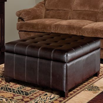Costco Isabella Bonded Leather Storage Ottoman