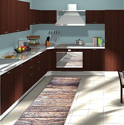 Tappeto passatoia cucina legno tutte le misure disponibili made italy antiscivolo 50x150 - Passatoia cucina antiscivolo ...