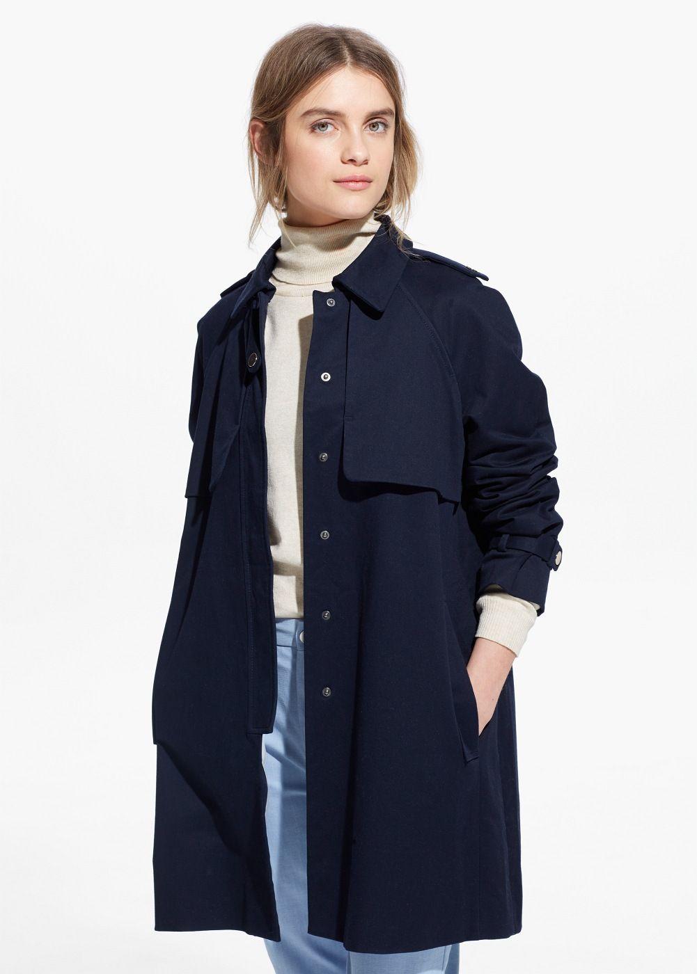 Impermeabil din bumbac - Femei   Inspiration   Pinterest   Coat ... e051c9fce18d