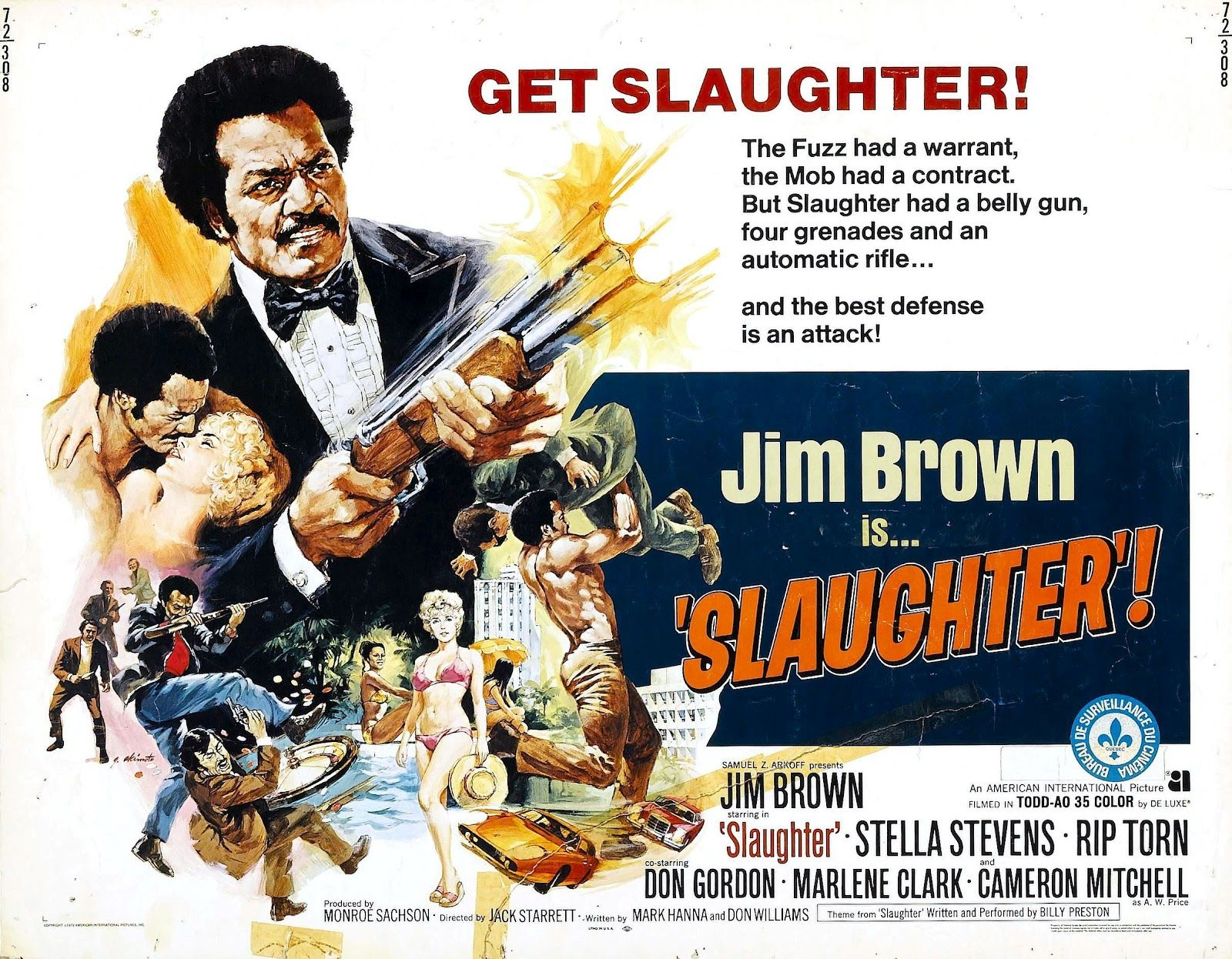 Jim Brown Slaughter >> Jim Brown Is Slaughter Blaxploitation Film Classic